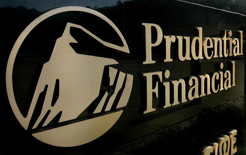 In this Aug. 2, 2005 file photo, a Prudential Financial sign on the marquis tells customers the company is inside an office building in Salt Lake City.