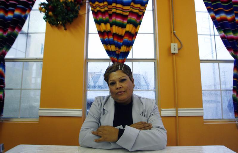 Immigrant Maria Garcia, a victim of domestic violence, is shown Friday, Feb. 24, 2006, in Dallas.