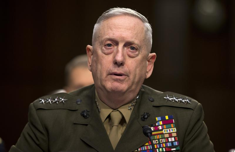Marine Gen. James Mattis, commander, U.S. Central Command, testifies on Capitol Hill in Washington, Tuesday, March 5, 2013.