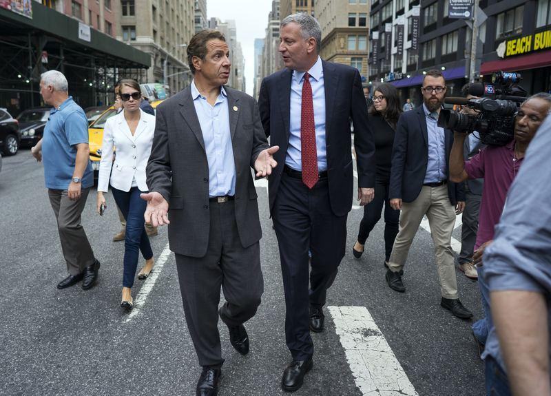 New York Governor Andrew Cuomo and New York City Mayor Bill de Blasio.