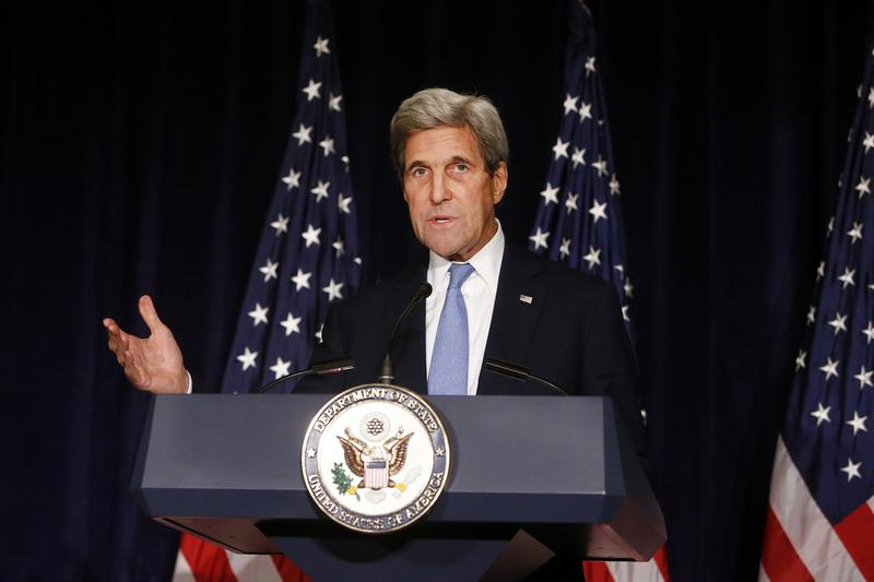 In this Sept. 22, 2016 file photo, Secretary of State John Kerry speaks in New York.