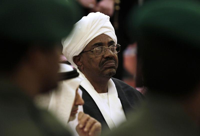 Sudanese President Omar al-Bashir attends the funeral of Saudi Crown Prince Sultan bin Abdul-Aziz Al Saud at the Imam Turki bin Abdullah mosque in Riyadh, Saudi Arabia. Oct. 25, 2011