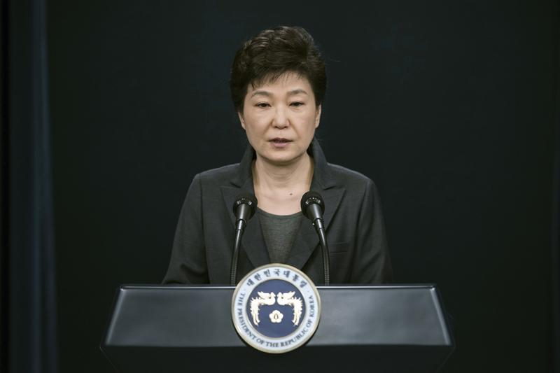 Nov. 4, 2016: South Korean President Park Geun-hye speaks during an address to the nation, at the presidential Blue House in Seoul, South Korea.
