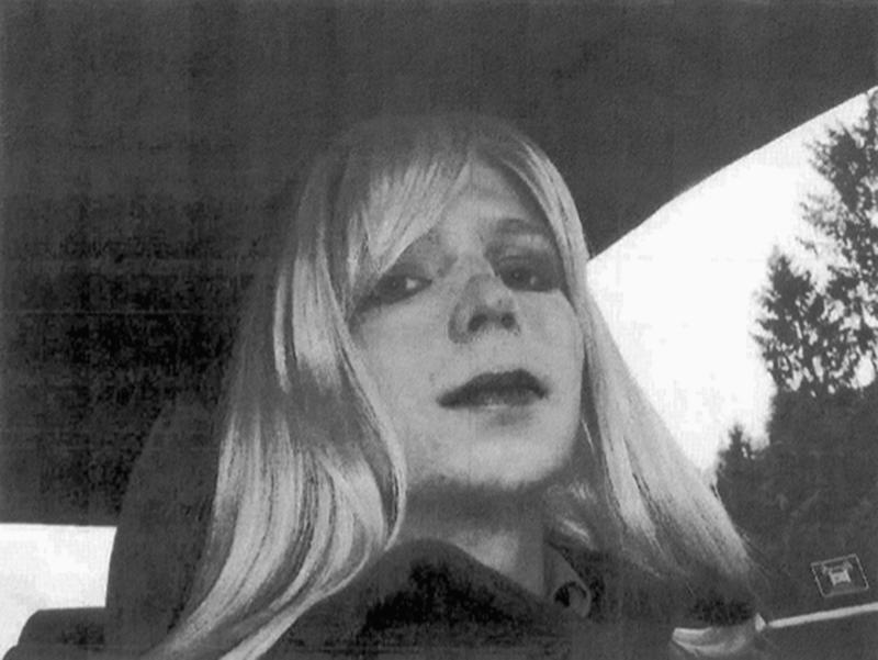 An undated photo of U.S. Army, Pfc. Chelsea Manning.