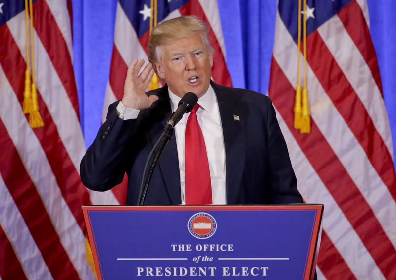President Elect Donald Trump was questioned repeatedly about the leaked dossier at his Wednesday press conference