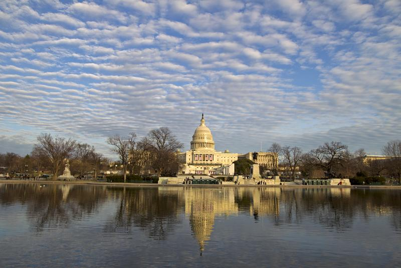 The U.S. Capitol is seen in front of the reflecting pool days before the Inauguration of President-elect Donald Trump, Sunday, Jan. 15, 2017.