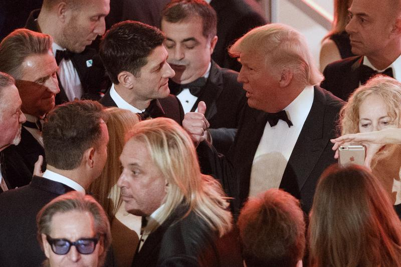Donald Trump at a dinner with donors, January 19, 2017