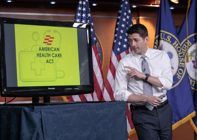 House Speaker Paul Ryan of Wis. uses charts and graphs to make his case for the GOP's long-awaited plan to repeal and replace the Affordable Care Act, Thursday, March 9, 2017.