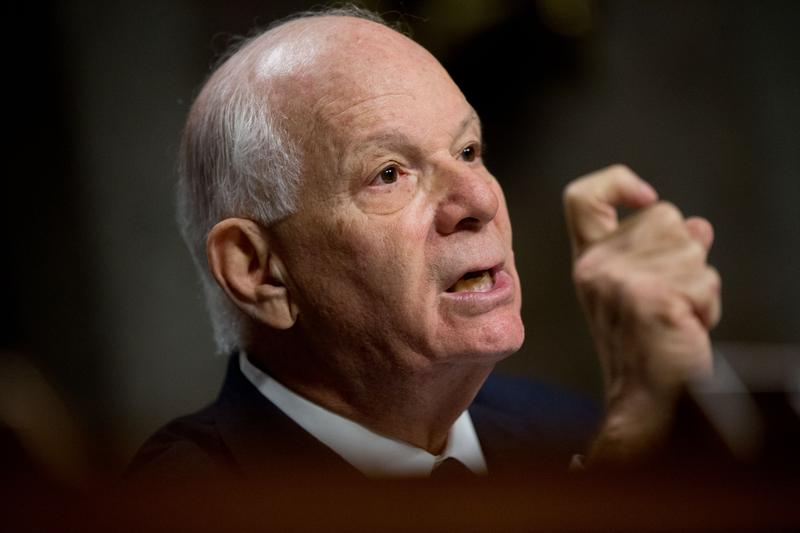 In this July 23, 2015 file photo, Ranking Member Sen. Ben Cardin, D-Md. is seen during a Senate Foreign Relations Committee hearing on Capitol Hill.