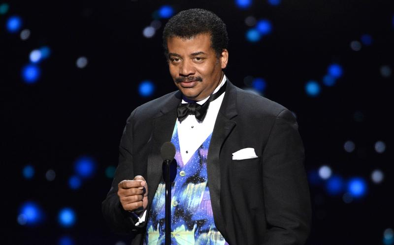 Neil deGrasse Tyson on stage at the Emmy Awards in 2015.