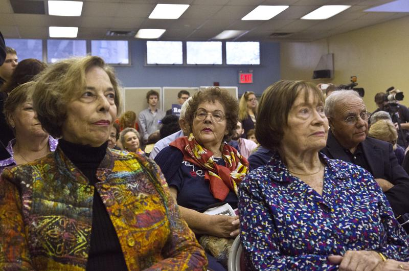 Seniors listen during a debate between Rep. Michael Grimm and his Democratic challenger Domenic M. Recchia Jr., at a candidates forum on Wednesday Oct. 1, 2014.