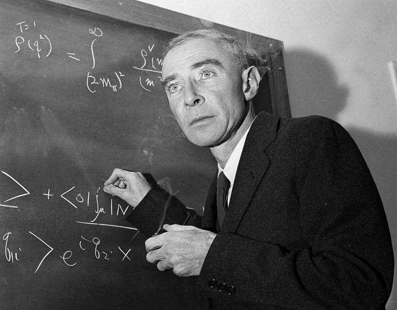 Dr. J. Robert Oppenheimer in his study at Princeton University in 1957