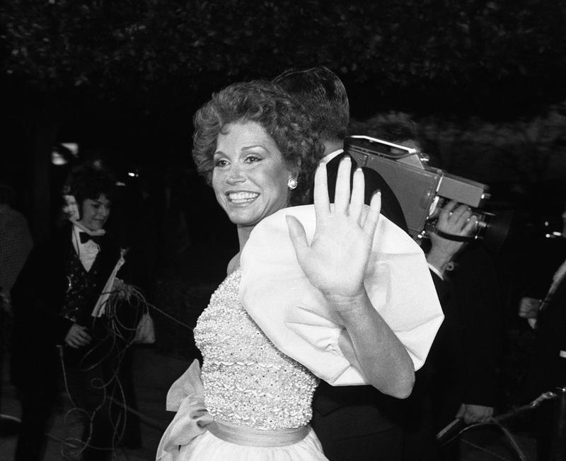 Actress Mary Tyler Moore at the Oscars in 1981.
