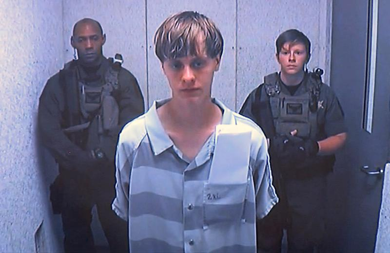 Dylann Storm Roof appears via video before a judge, in Charleston, S.C., Friday, June 19, 2015.