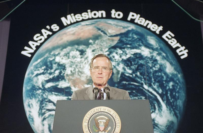 U.S. President George H. Bush promised millions of dollars for forest conservation, days before he attended the Earth Summit in Rio.
