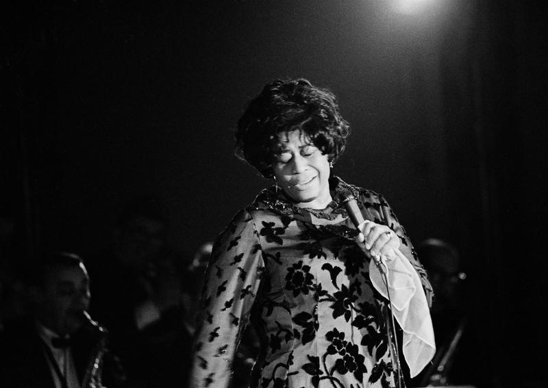 Ella Fitzgerald, performing at the Empire Room at the Waldorf Astoria Hotel in New York, March 30, 1971