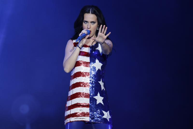 Katy Perry performs during a concert supporting Democratic presidential candidate Hillary Clinton, Philadelphia, Nov 5, 2016