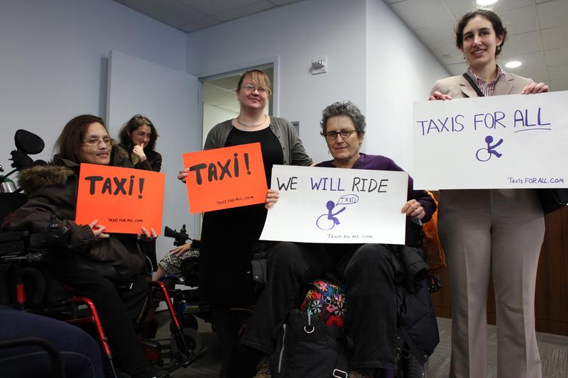 Advocates for wheelchair accessible taxis meeting with the Taxi and Limousine Commission, which announced it will make half the city's fleet of taxis wheelchair accessible by 2020.