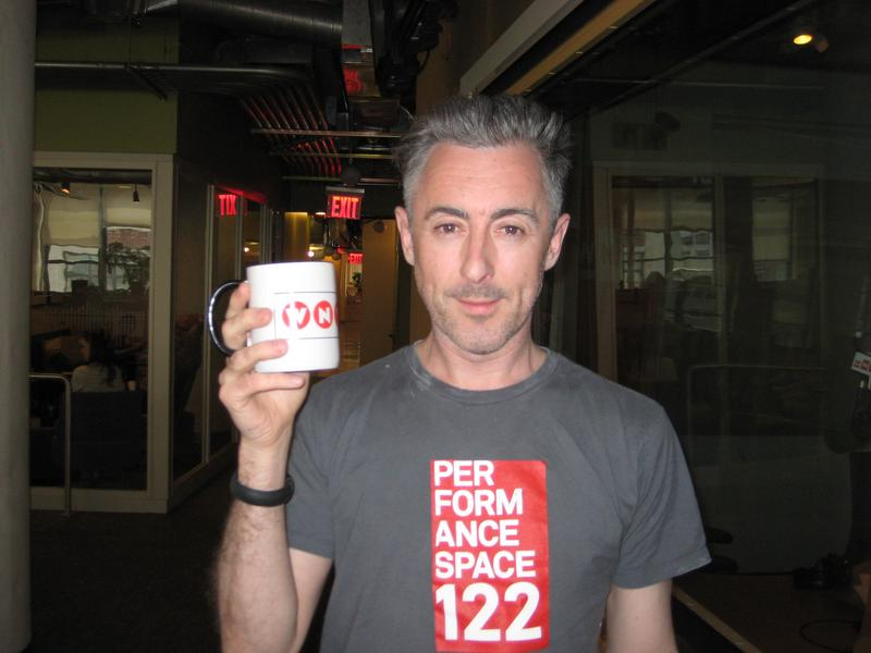 Alan Cumming in the WNYC studios