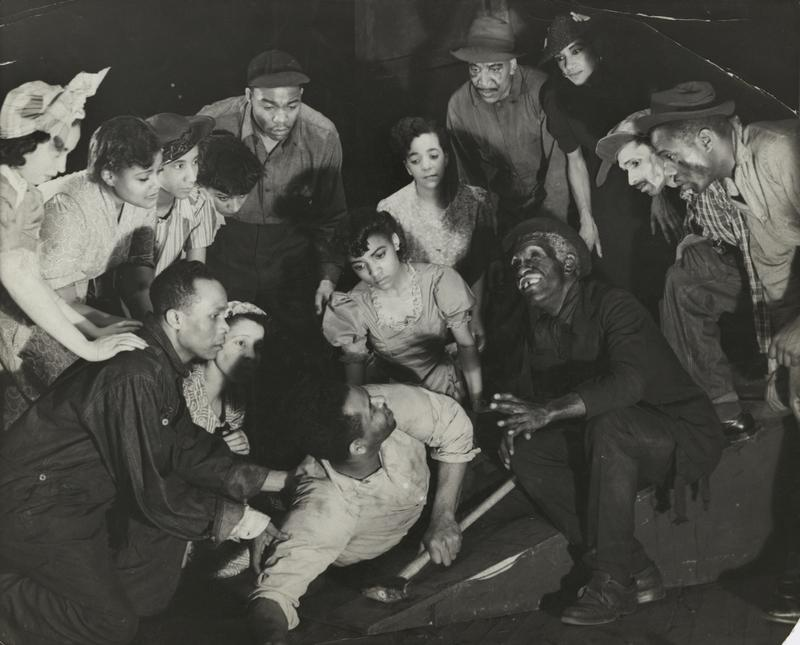 Scene from the American Negro Theatre's production of 'Natural Man,' 1941.