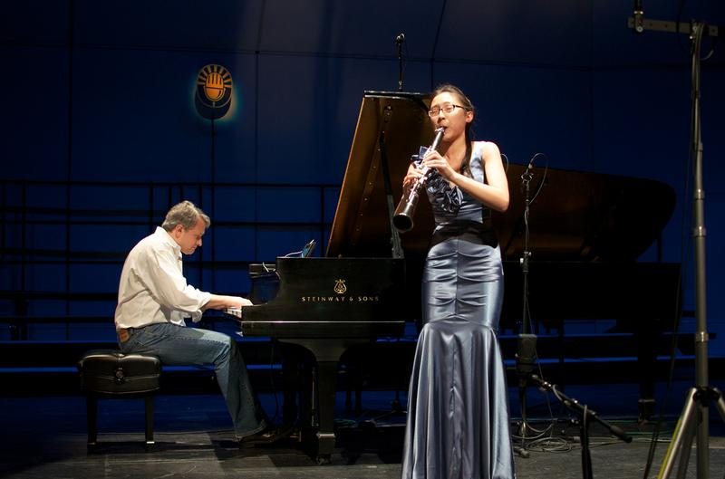 Clarinetist Austen Yueh accompanied by Christopher O'Riley on piano.
