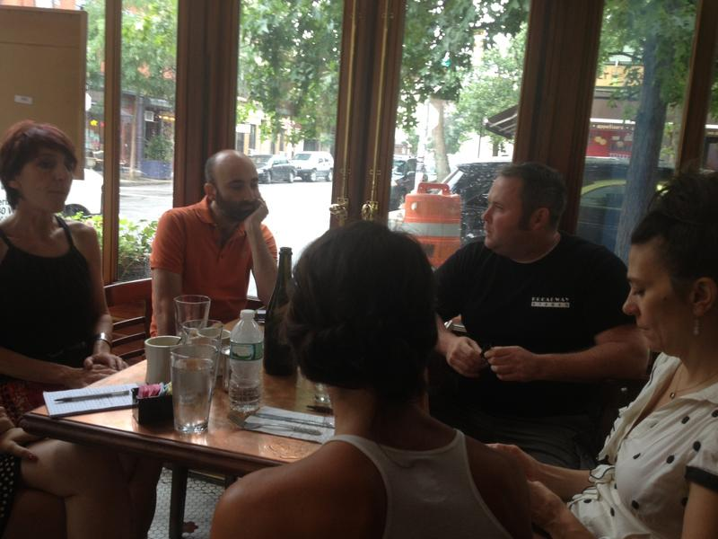 Leaders of BABAR, Brooklyn Allied Bars and Restaurants, at a recent meeting at Teddy's in Williamsburg.