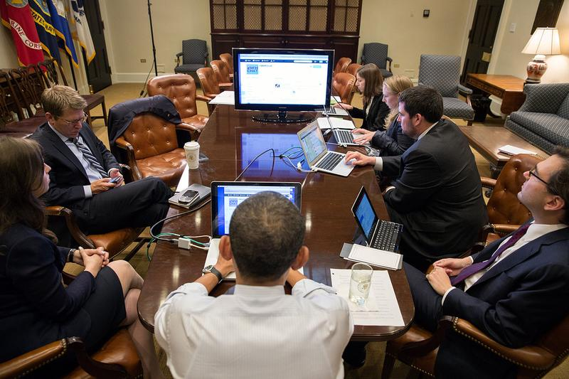 President Obama and his team participate in a live Twitter discussion