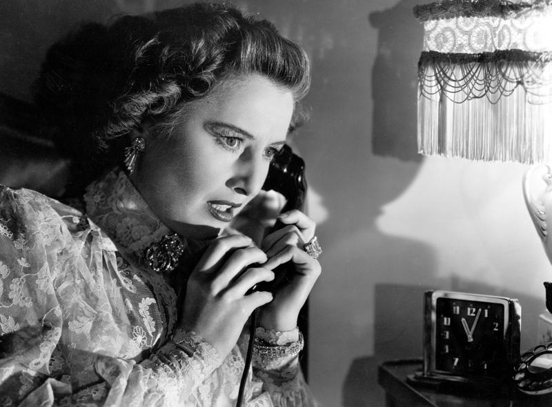 "Barbara Stanwyck in ""Sorry, Wrong Number"" (1948), directed by Anatole Litvak."