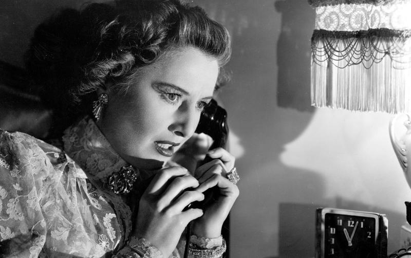 """Barbara Stanwyck in """"Sorry, Wrong Number"""" from 1948"""