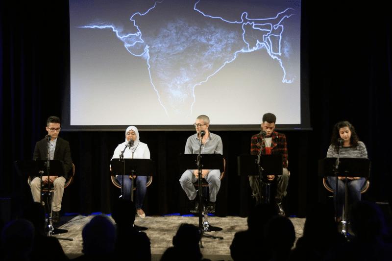 Performers Tiffany Yasmin Abdelghani, Ferdous Dehqan, Kadin Herring, Amir Khafagy, and Maha Syed