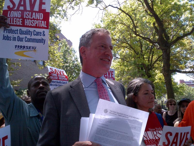 Public Advocate and democratic mayoral candidate Bill de Blasio