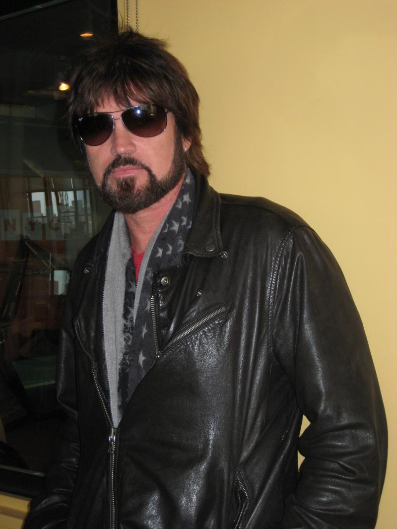 Country music star Billy Ray Cyrus in the WNYC studios