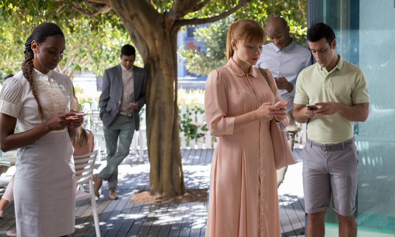 "Bryce Dallas Howard (center) in season three of ""Black Mirror"""