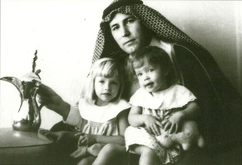 "Bob Ames in Saudi Arabia, Christmas 1964, with his daughters, Catherine and Adrienne. Ames was becoming fluent in Arabic. ""He was one of the best spooks I ever met,"" recalled a colleague."