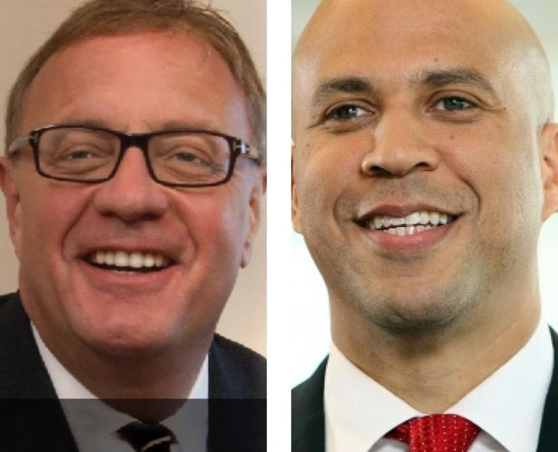 U.S. Senate candidates Republican Steve Lonegan and Democrat Cory Booker