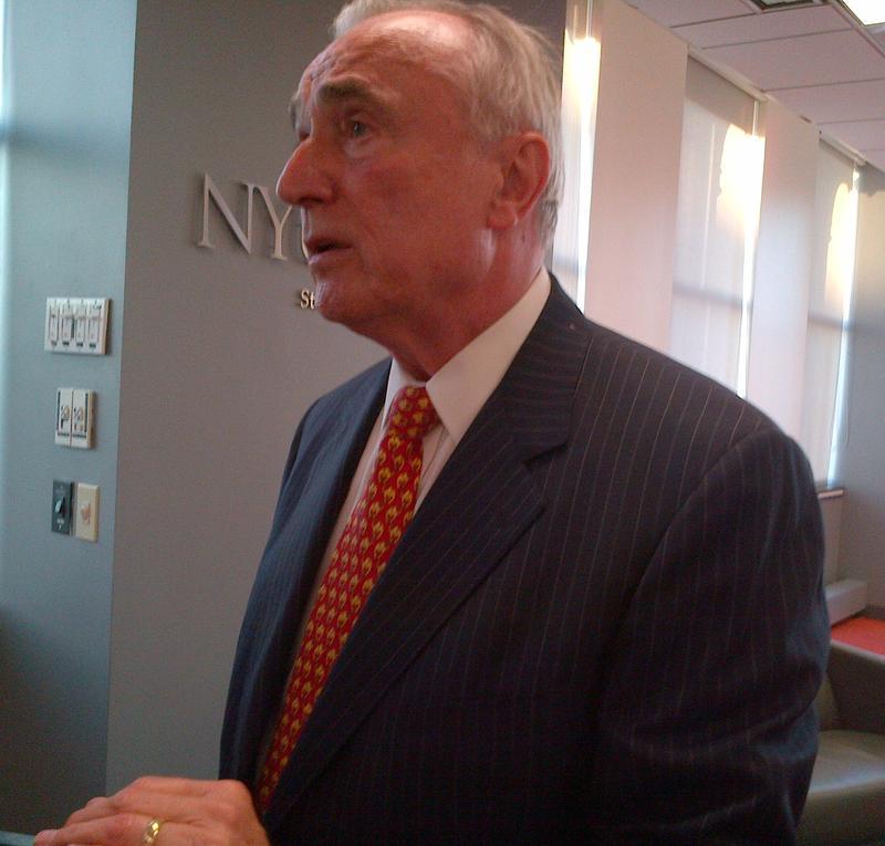 Bill Bratton at a speaking engagement at NYU.