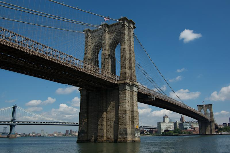 The Brooklyn Bridge as seen from Manhattan