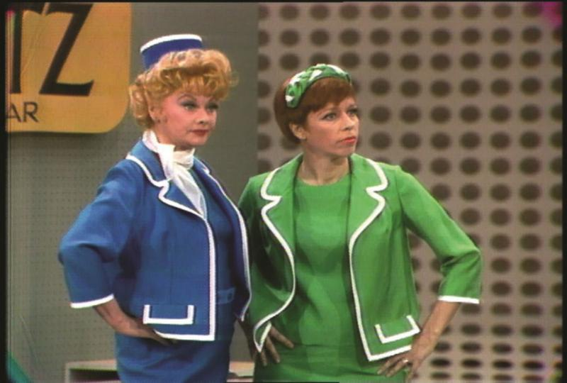 "Carol Burnett  with Lucille Ball in ""Lost Episodes"" Screengrabs."