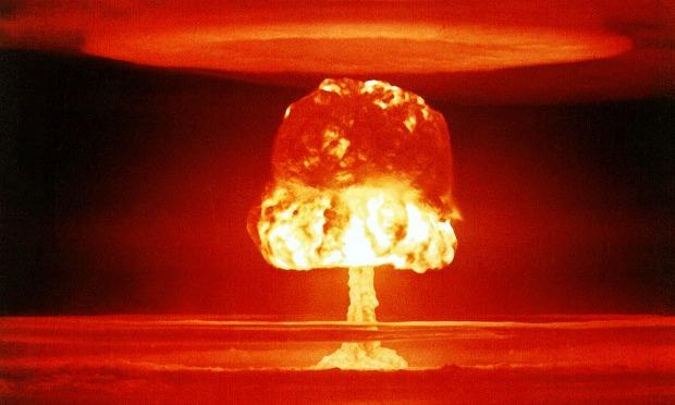 A nuclear weapons test on Bikini Atoll