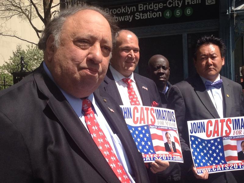 John Catsimatidis accepts the Liberal Party endorsement for mayor on May 7, 2013.