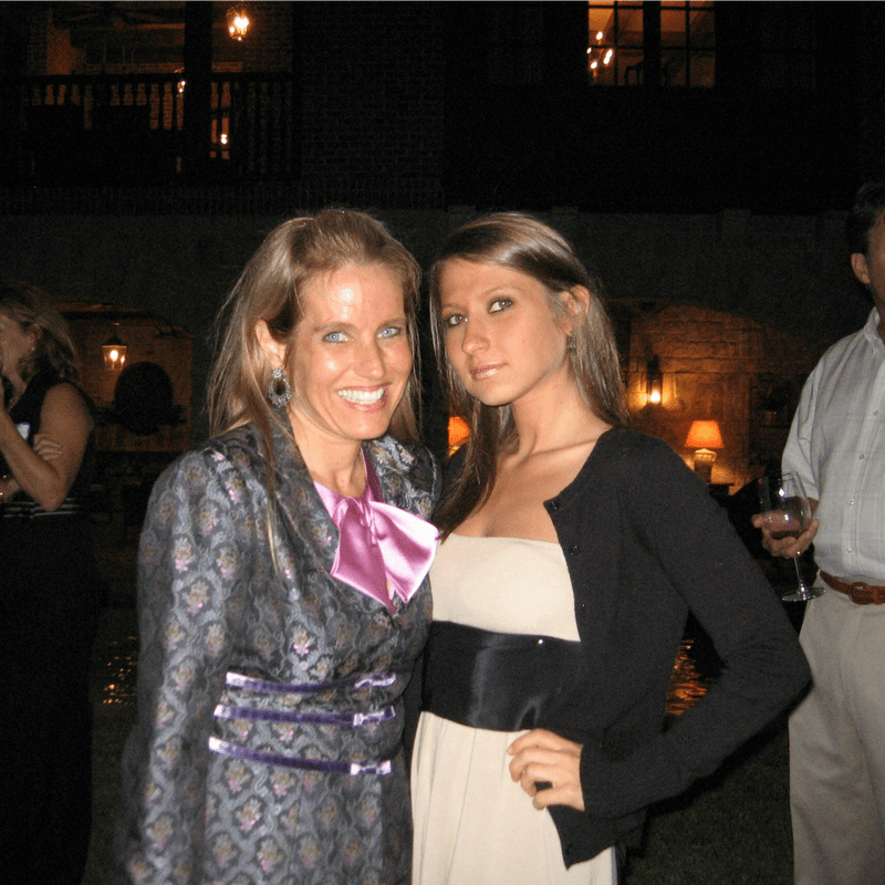 Charlotte Laws with her daughter, Kayla Laws, in 2008.