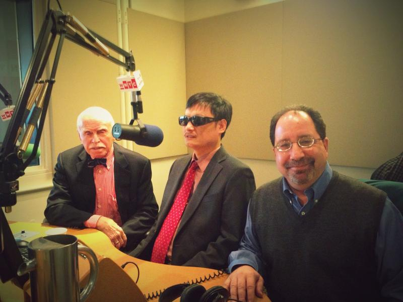Jerome Cohen of NYU Law, activist Chen Guangcheng, and Ira Belkin of NYU's U.S. Asia Law Institute in the WNYC Studios.