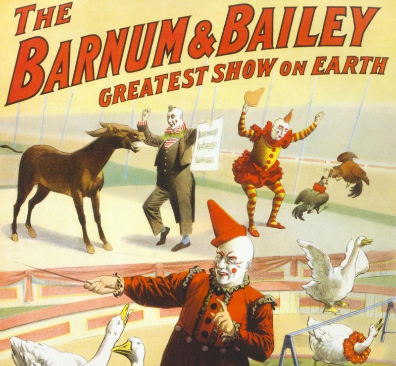 Circus advertisement, 1900
