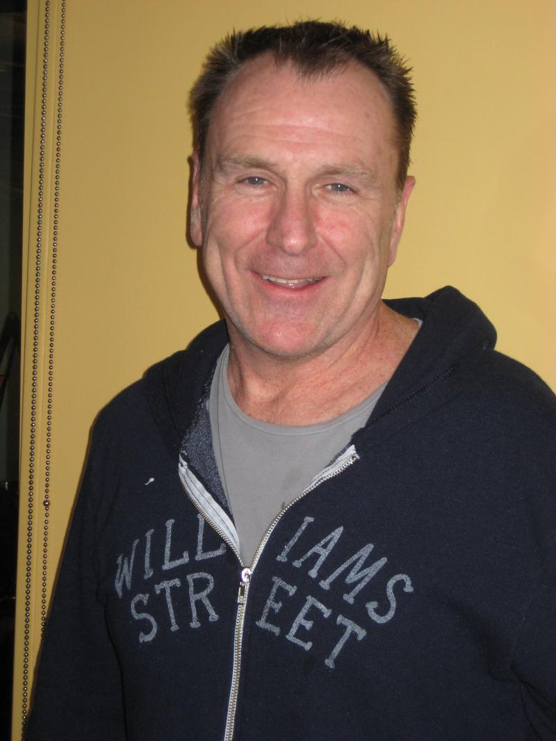 Colin Quinn in the WNYC studios
