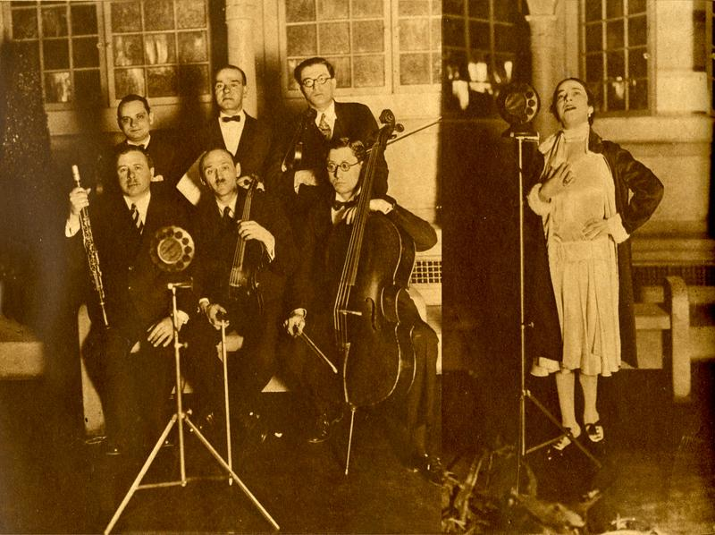 The Stringwood Ensemble and singer Isa Kremer perform at WNYC Forward Hour, May 21, 1926.