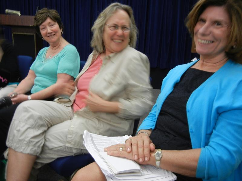 From left Joyce Woods, Phyllis Rodriguez and Loreen Sellitto meeting with reporters in Guantanamo Bay, Cuba in January 2013.