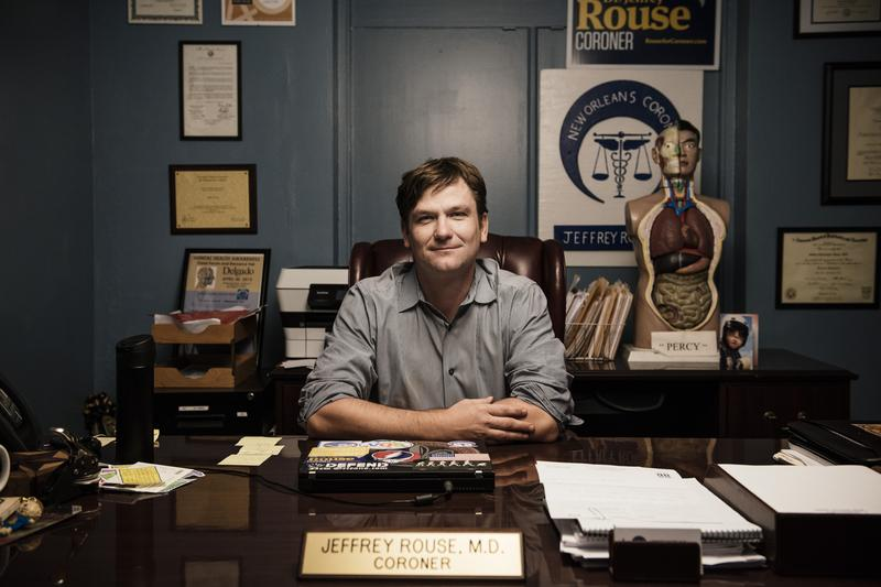 Dr. Jeffrey Rouse, in his office at the New Orleans Forensic Center.