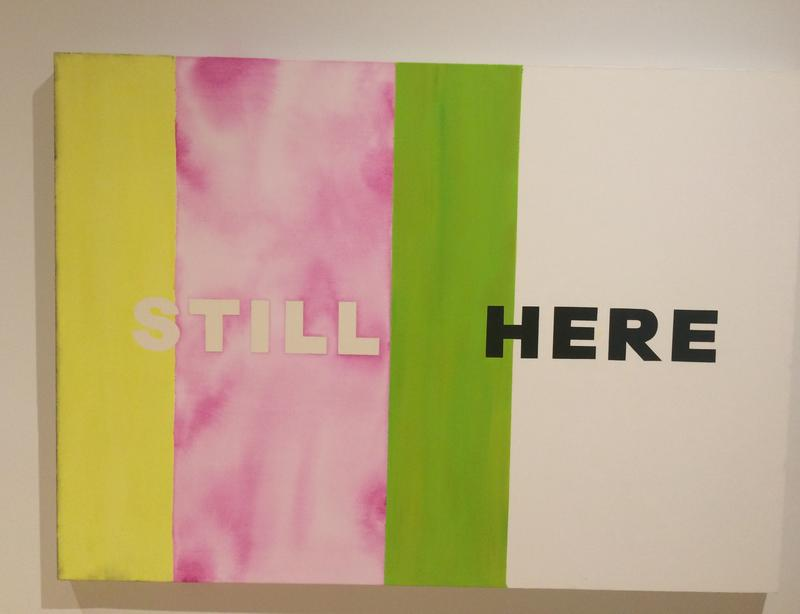 Deborah Kass 'Still Here,' from 2007 now on view at the Bronx Museum of the Arts.
