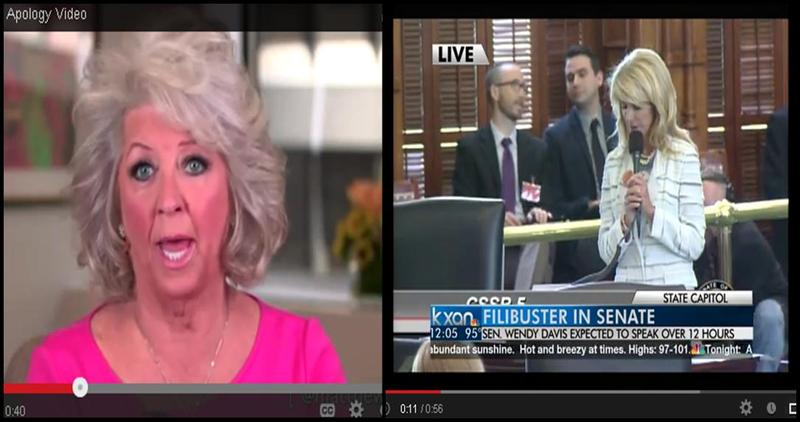 Paula Deen and Wendy Davis