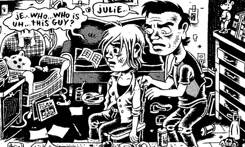 "Detail of a panel from ""My New York Diary"""